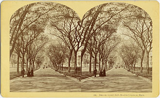 Benjamin W. Kilburn - Stereograph of Boston Common by B.W. Kilburn