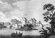 Bedford Bridge from Antiquities of England by (1783) by Francis Grose