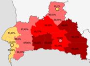 Belarusians in Bresckaja voblasć, Belarus (2009 census)