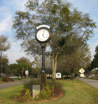 Belle Isle, Florida - Clock before city hall