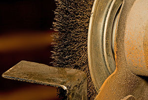 Wire brush - Image: Bench Grinder Brush 1
