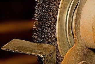 Wire brush - Image: Bench Grinder Brush 1