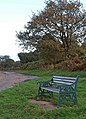 Bench on Clay Pits Lane - geograph.org.uk - 1022431.jpg