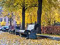 Benches in Vilnius during autumn.jpg