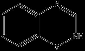 Benzothiadiazine - Image: Benzothiadiazine