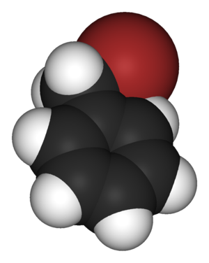 Benzyl bromide - Image: Benzyl bromide 3D vd W