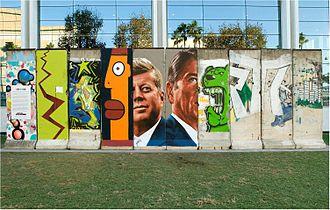 Wende Museum - Ten pieces of the original Berlin Wall at 5900 Wilshire Boulevard, Los Angeles, California