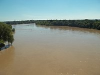 Bermejo river seen to the North of the bridge Mansilla-Eva Perón.JPG