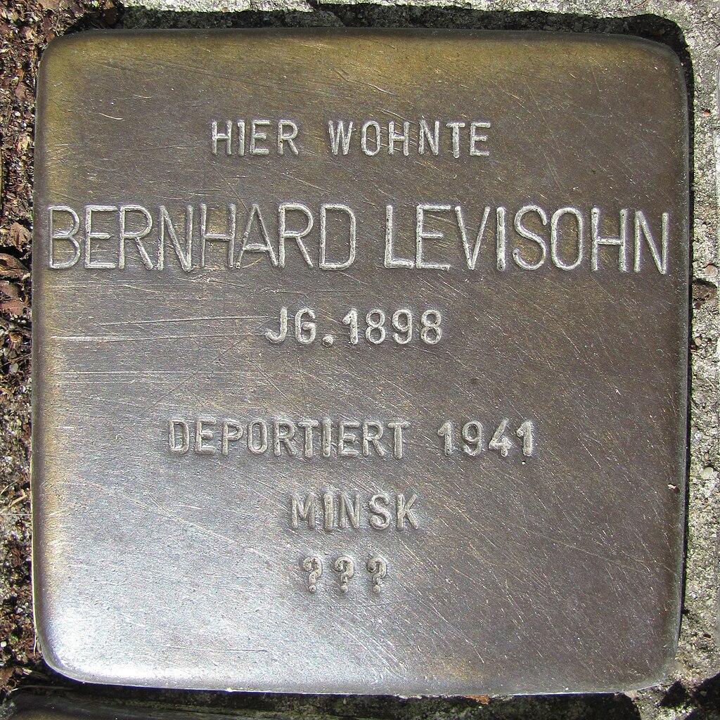 Bernhard Levisohn - Wandsbeker Königstraße 38 (Hamburg-Wandsbek).Stolperstein.nnw.jpg