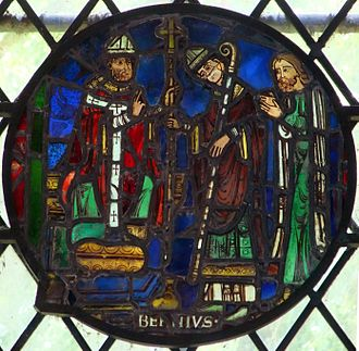 Dorchester Abbey - Window showing St. Birinus