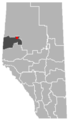 Berwyn, Alberta Location.png