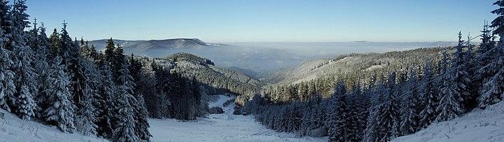 Moravian-Silesian Beskids in winter