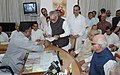 Bhairon Singh Shekhawat filing his nomination papers for the Presidential Election in the presence of the former Prime Minister, Shri Atal Bihari Vajpayee along with other senior NDA leaders in New Delhi on June 25, 2007 (1).jpg
