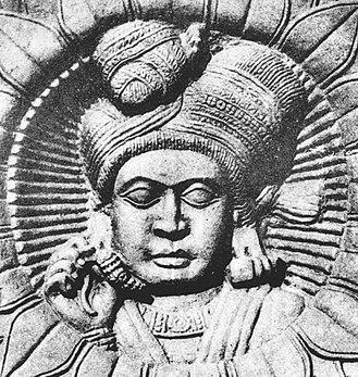 Shunga Empire - Man on a relief, Bharhut, Shunga period.