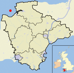Bideford Bay - Image: Bideford Bay Map
