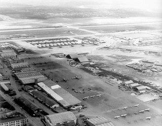Bien Hoa Air Base military airfield in Vietnam