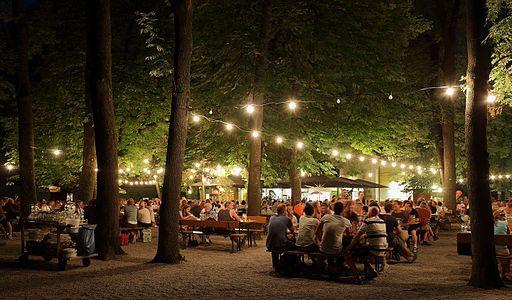 A typical August night in a Munich beer garden
