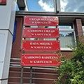 Bilingual Polish-Kashubian sign on Kartuzy town hall and town council.jpg