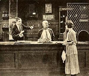 Bill Henry (film) - Still from magazine with Charles Ray, Bert Woodruff, and Edith Roberts
