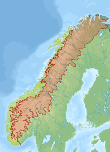 Scandinavian Mountains Wikipedia - Norway map mountains