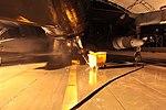 Bird Bath, Marine mechanics keep Harriers dust-free in Afghanistan 110603-M-UB212-003.jpg