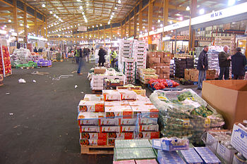 English: The Birmingham Wholesale Markets at 4am