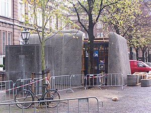 Black Book (film) - A 'bunker' is built around the entrance of an underground car park at the film set of Black Book