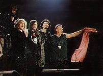 Black Sabbath on stage at Schleyerhalle in Stu...