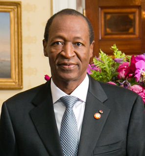 Blaise Compaoré Burkinabé politician, President of Burkina Faso from 1987 to 2014