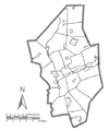 Blank map of communities in Columbia County, Pennsylvania.png