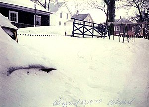 Northeastern United States blizzard of 1978 - Maple Street, Woonsocket, Rhode Island