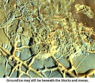 Oxia Palus quadrangle - Image: Blocks in Aram