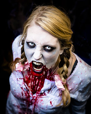 Zombie at World Zombie Day, London, October 2012