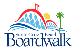 Santa Cruz Beach Boardwalk - Image: Boardwalk Logo White Outline ds