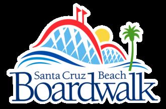 Santa Cruz Beach Boardwalk - Image: Boardwalk Logo White Outline ds
