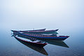 Boats in the Kaladan River, Rakhine State, Myanmar Burma.jpg