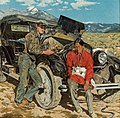 Bob Abbott and His Assistant by Walter Ufer, 1935.jpg