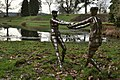 Bob Walters' stainless steel people frolicking by the pond at Arlington Court - geograph.org.uk - 2244749.jpg