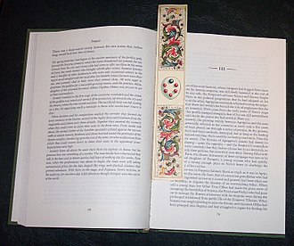 Bookmark - Book with florentine paper bookmark.