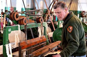 Boott Mills - Image: Boott Mills Power Loom in operation