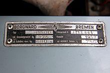 Borgward Isabella, Bj. 1957 (2014-08-31 6790) Typschild.JPG