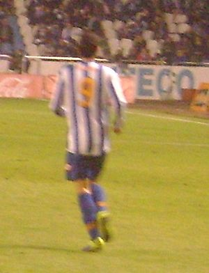 Borja Bastón - Borja playing for Deportivo in 2013