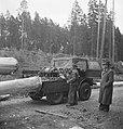 Bosbewerking, boswegen, auto's, boomstammen, vervoeren, Bestanddeelnr 251-8818.jpg