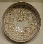 Bowl with running quadruped, Iran, Ilkhanid period, 2nd half of 13th century, earthenware with overglaze luster painting - Cincinnati Art Museum - DSC04063.JPG