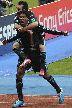 Brandão (footballer, born 1980) - Brandão celebrating a goal for Marseille in 2010