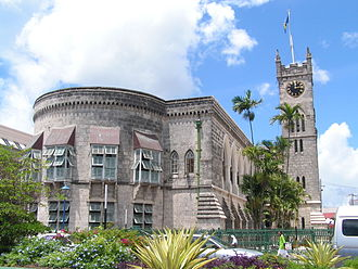 Samuel Jackman Prescod - The Parliament building stands to the north of what is now called National Heroes Square