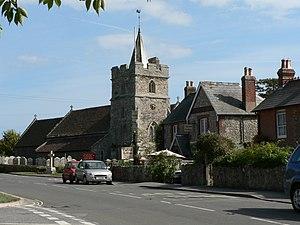 Brighstone - Image: Brighstone Church and Tea Rooms