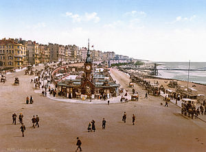 Brighton - Photochrom of Brighton aquarium, 1890–1900