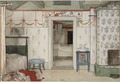 Brita's Forty Winks. From A Home (26 watercolours) (Carl Larsson) - Nationalmuseum - 24216.tif