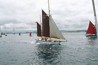 """Tall Ships' Races - Image: British sailboat """"Morning Star of Revelation"""", in Spanish waters (Tall Ships' Race 2003)"""